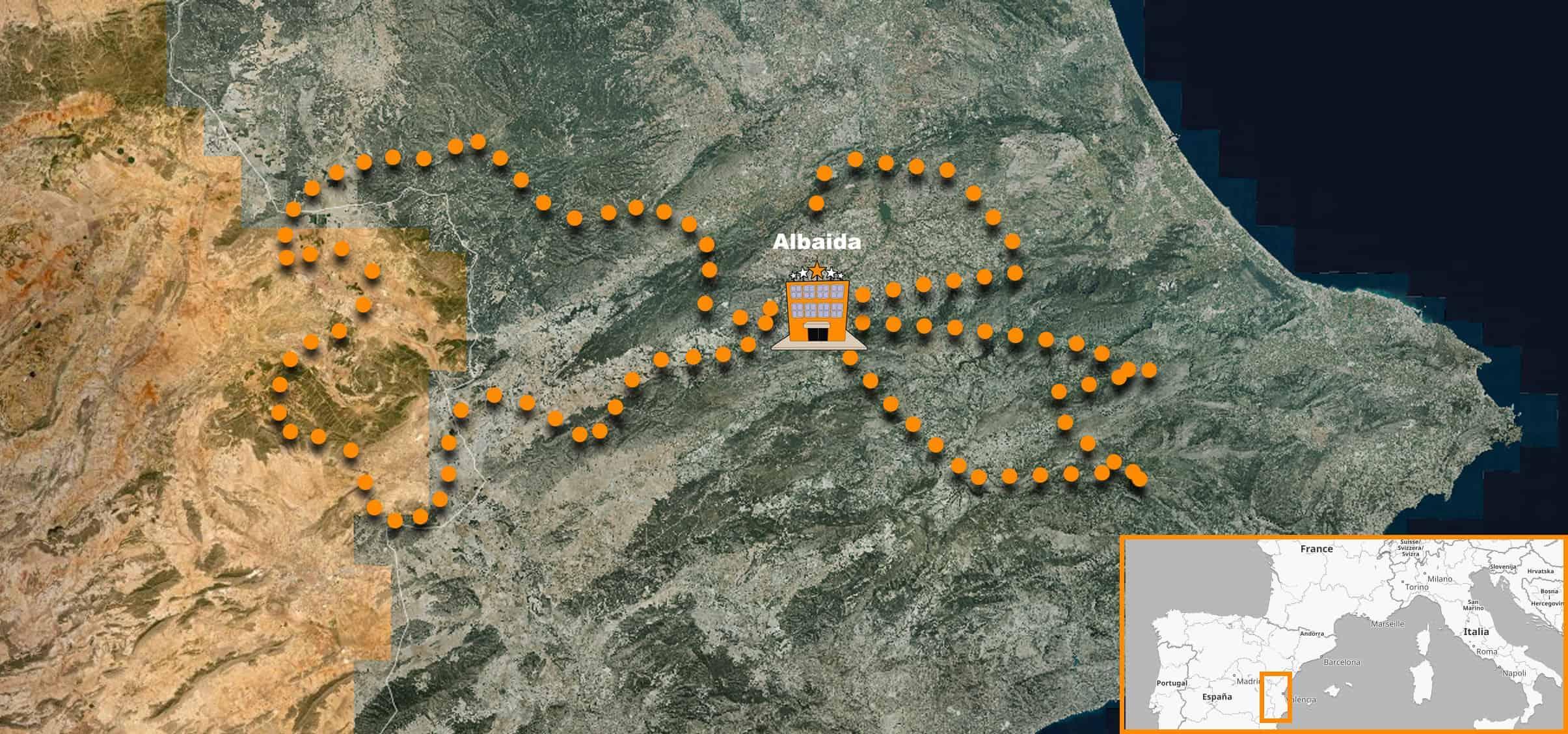 Viaje Organizado en moto por España 100% Offroad itinerario