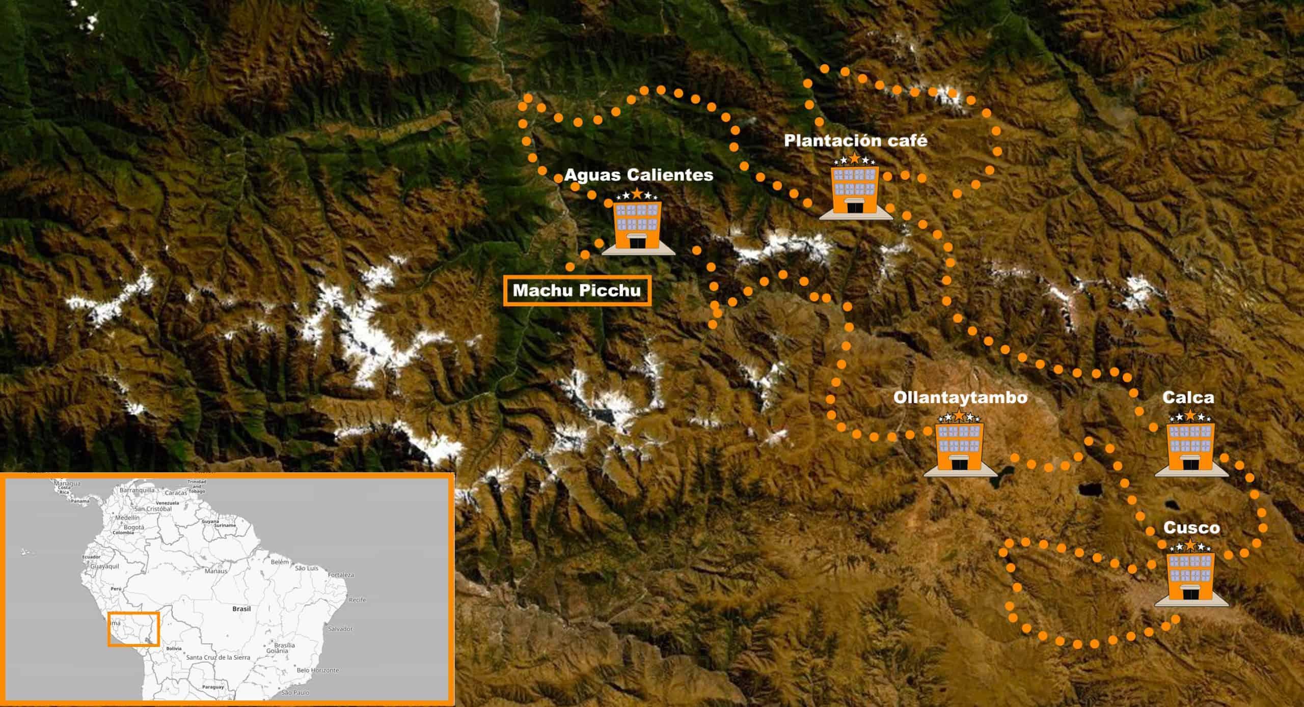 itinerario Viaje en moto organizado Perú
